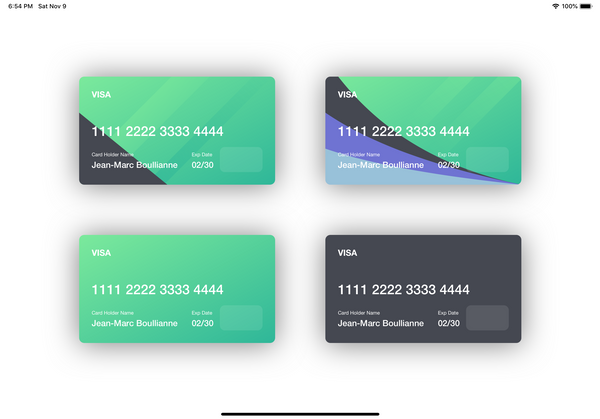 Elegant Credit Card View in Swift