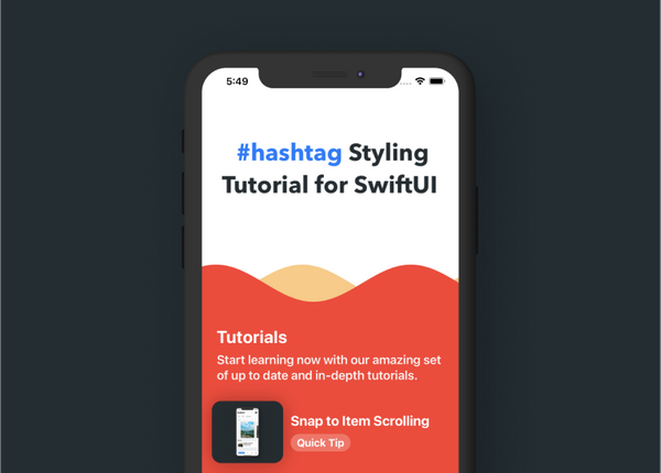 #hashtag Styling in SwiftUI